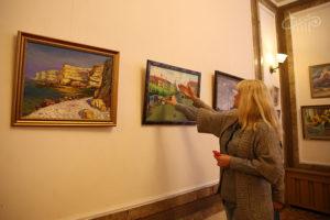 Выставка картин, посвящённая 95-летию Петра Коломойцева