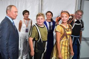Президент России посетил спектакль «Грифон» с участием артистов «Черного моря»