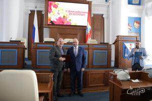 Артистов и руководителей СЦКиИ наградили в Заксобрании Севастополя