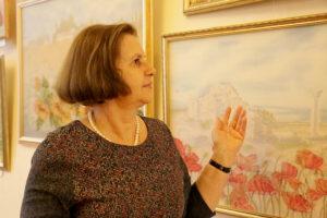 Выставка батика Людмилы Федчишиной
